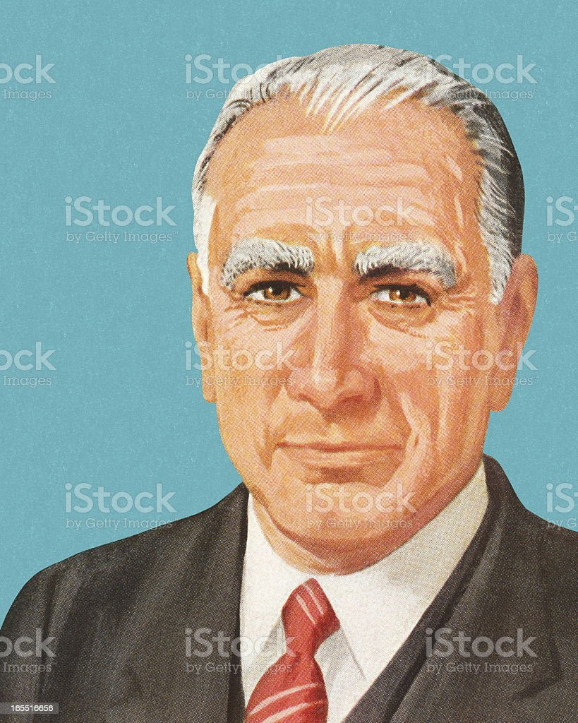 Portrait of a Businessman royalty-free stock vector art