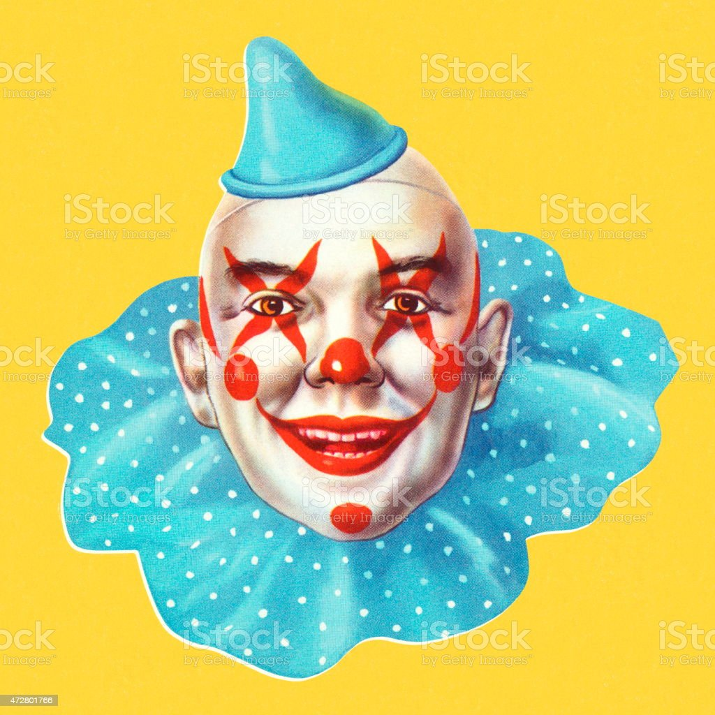 Portrait of a Clown vector art illustration
