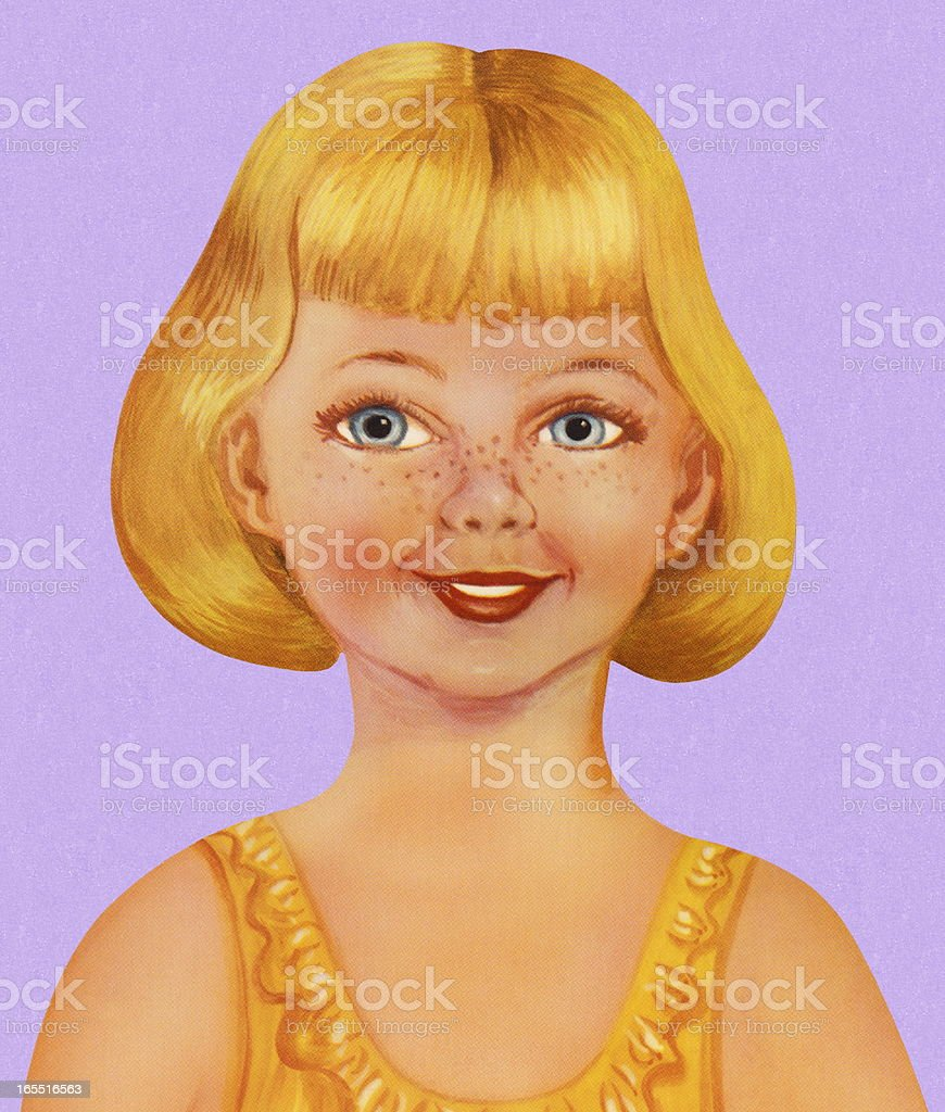 Portrait of a Girl royalty-free stock vector art