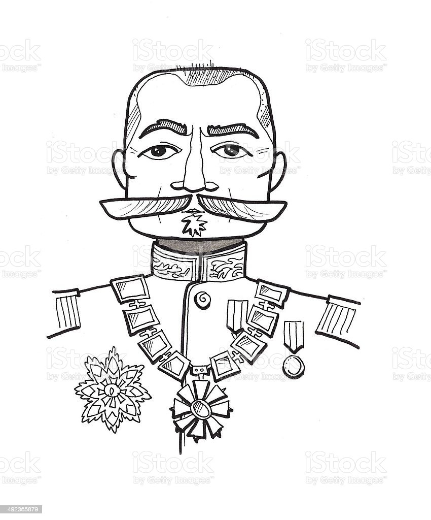 Portrait of a man royalty-free stock vector art