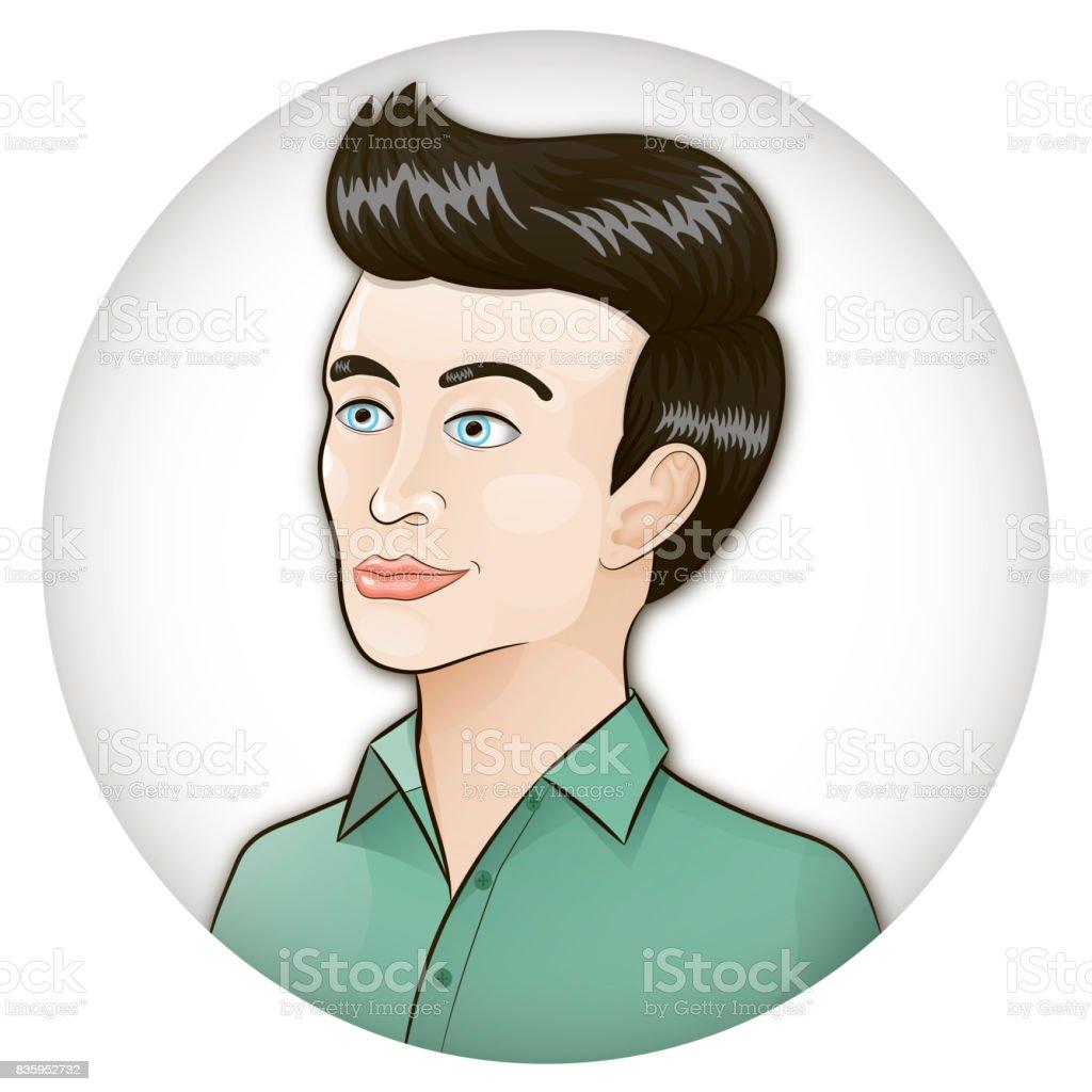 Portrait of a man vector art illustration