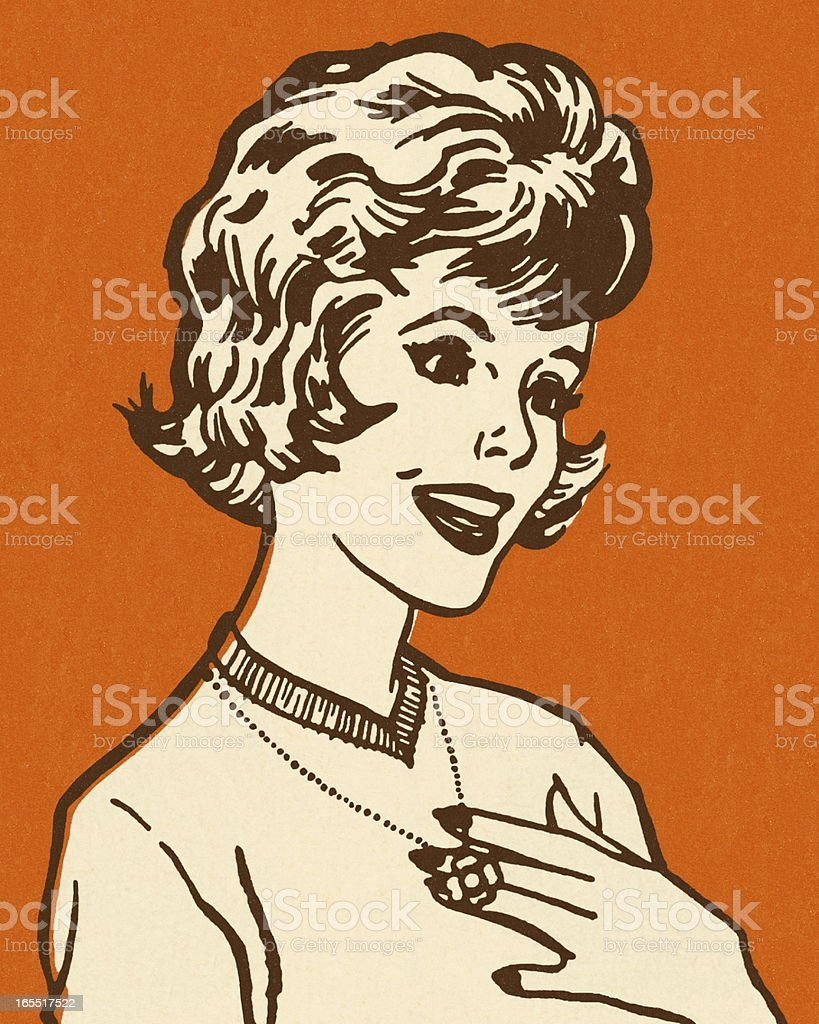 Portrait of a Woman royalty-free stock vector art