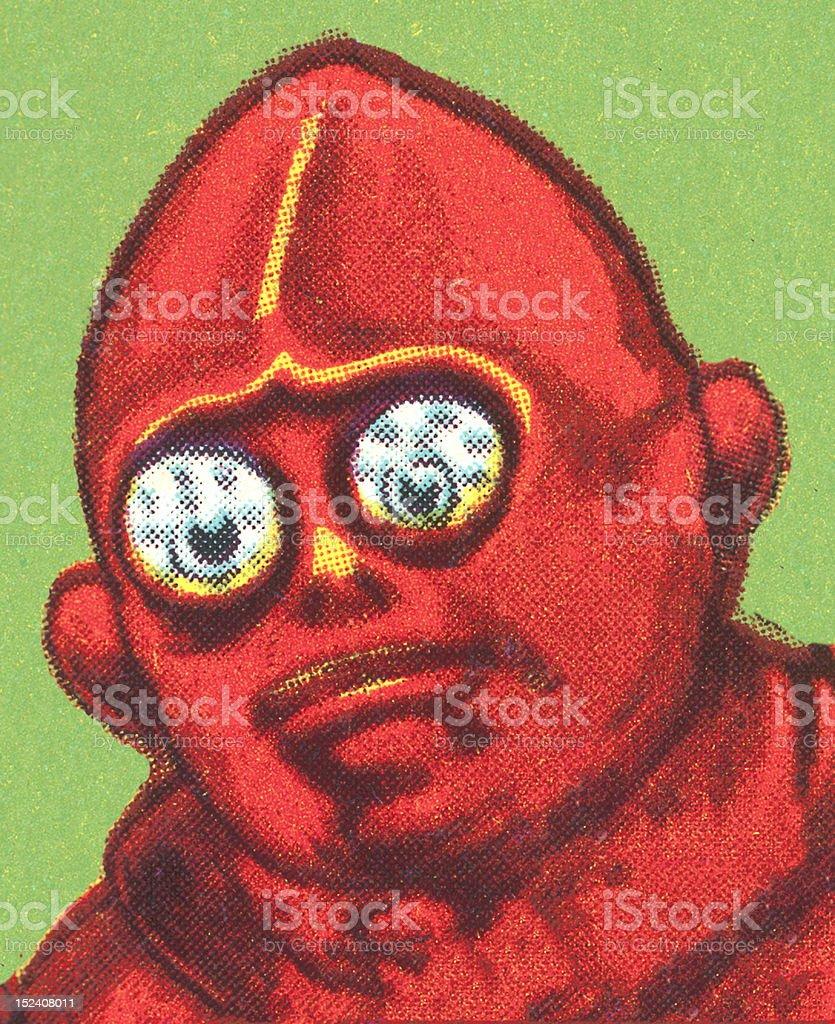 Portrait of an Alien Monster royalty-free stock vector art