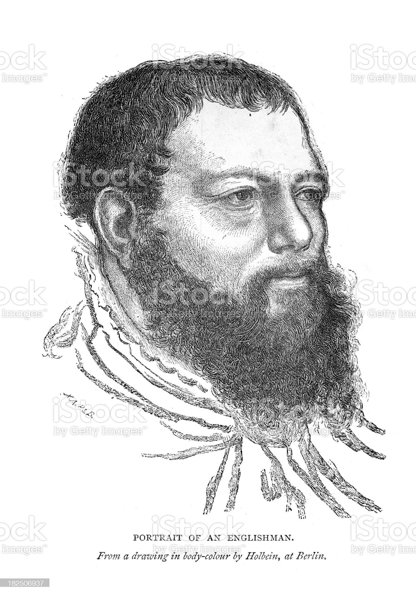Portrait of an Englishman royalty-free stock vector art