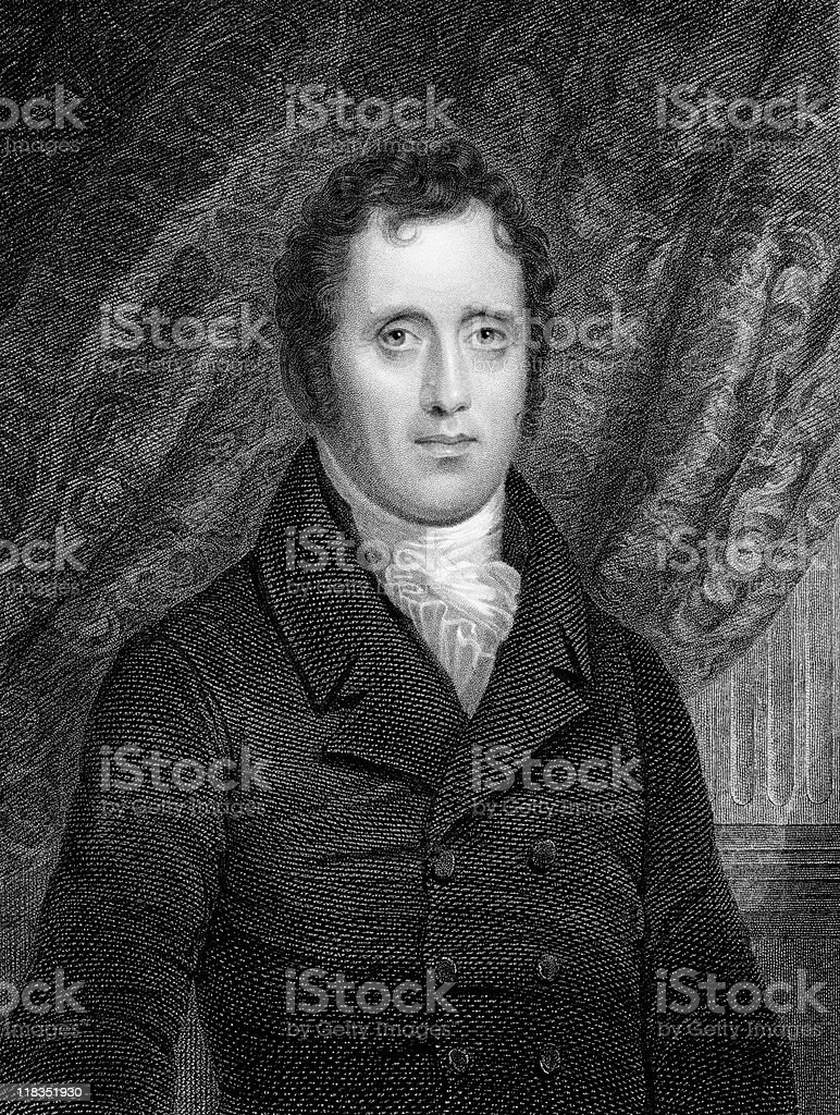 Portrait of Daniel D. Tompkins royalty-free stock vector art