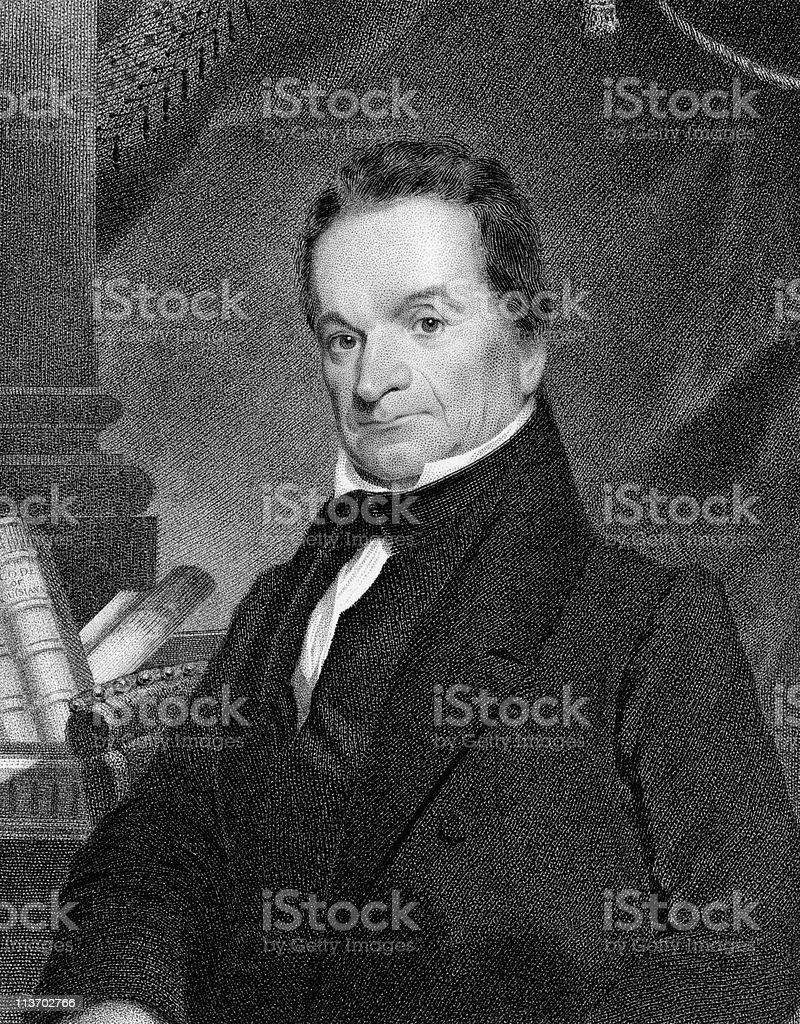 Portrait of Edward Livingston royalty-free stock vector art