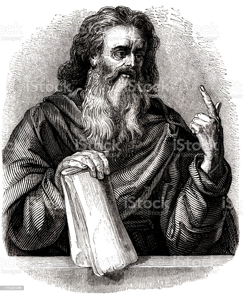 Portrait of Elisha vector art illustration
