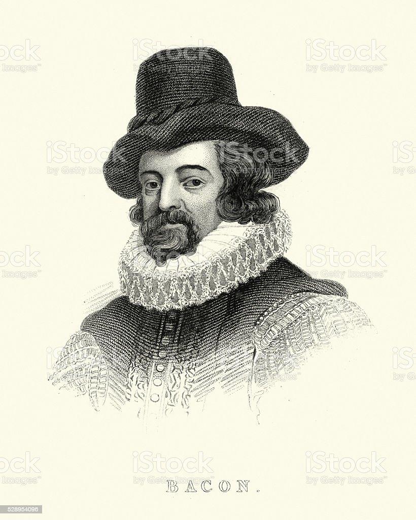 Portrait of Francis Bacon vector art illustration