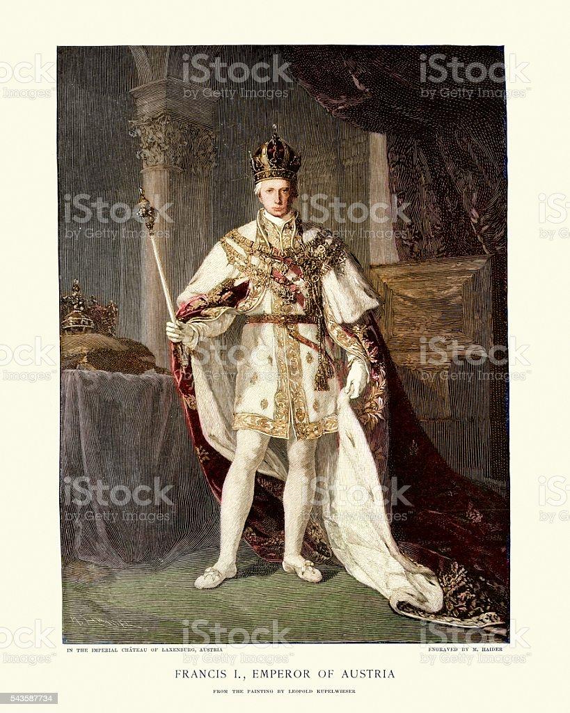 Portrait of Francis II, Holy Roman Emperor vector art illustration