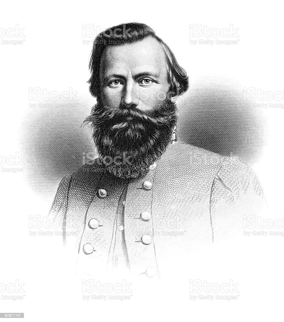 Portrait of General J.E.B. Stuart, 1864 vector art illustration
