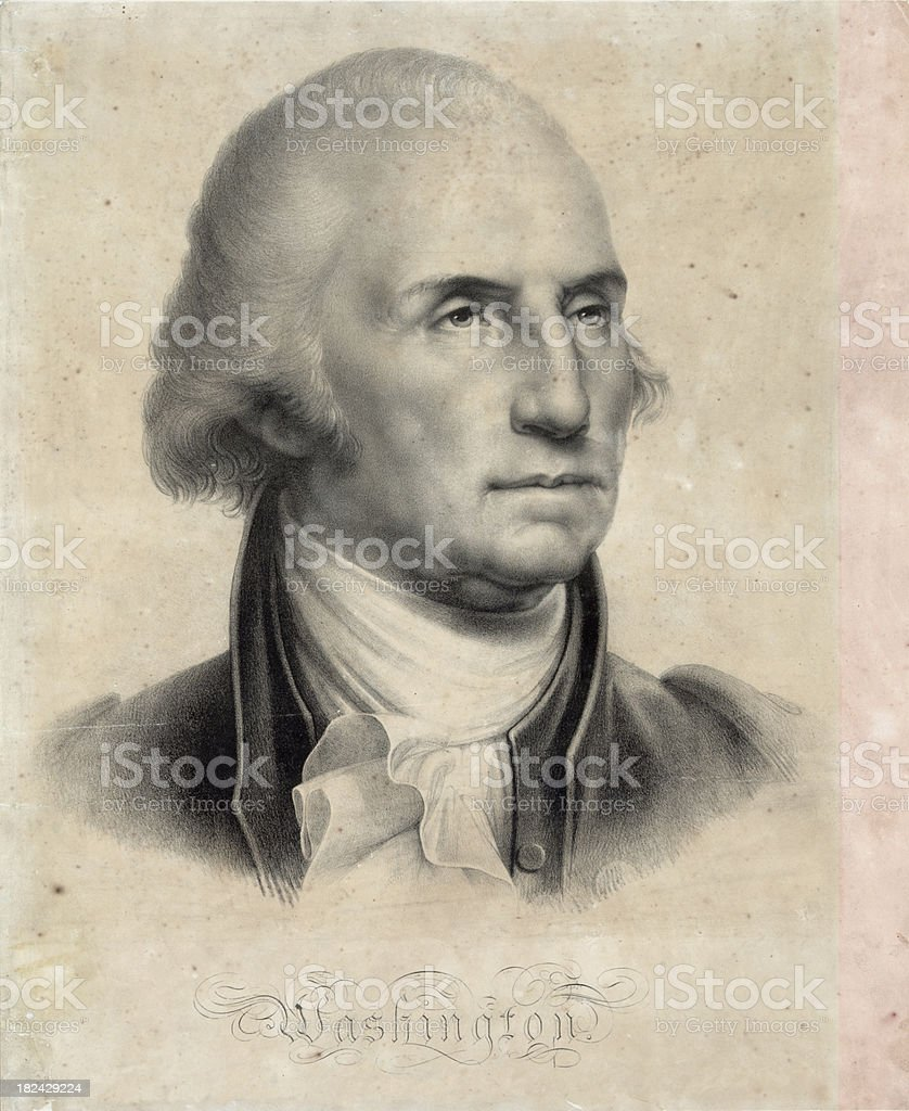 Portrait of George Washington vector art illustration
