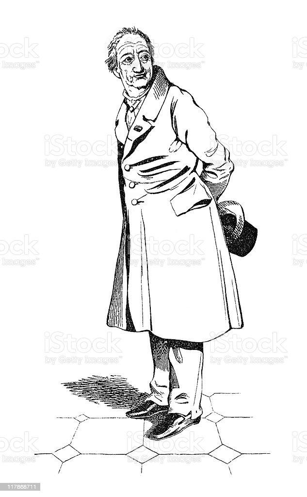 Portrait of Goethe royalty-free stock vector art
