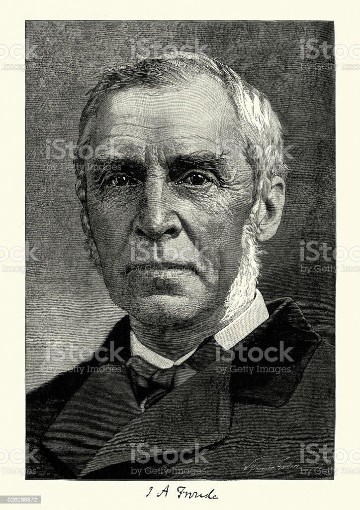 Portrait of James Anthony Froude vector art illustration