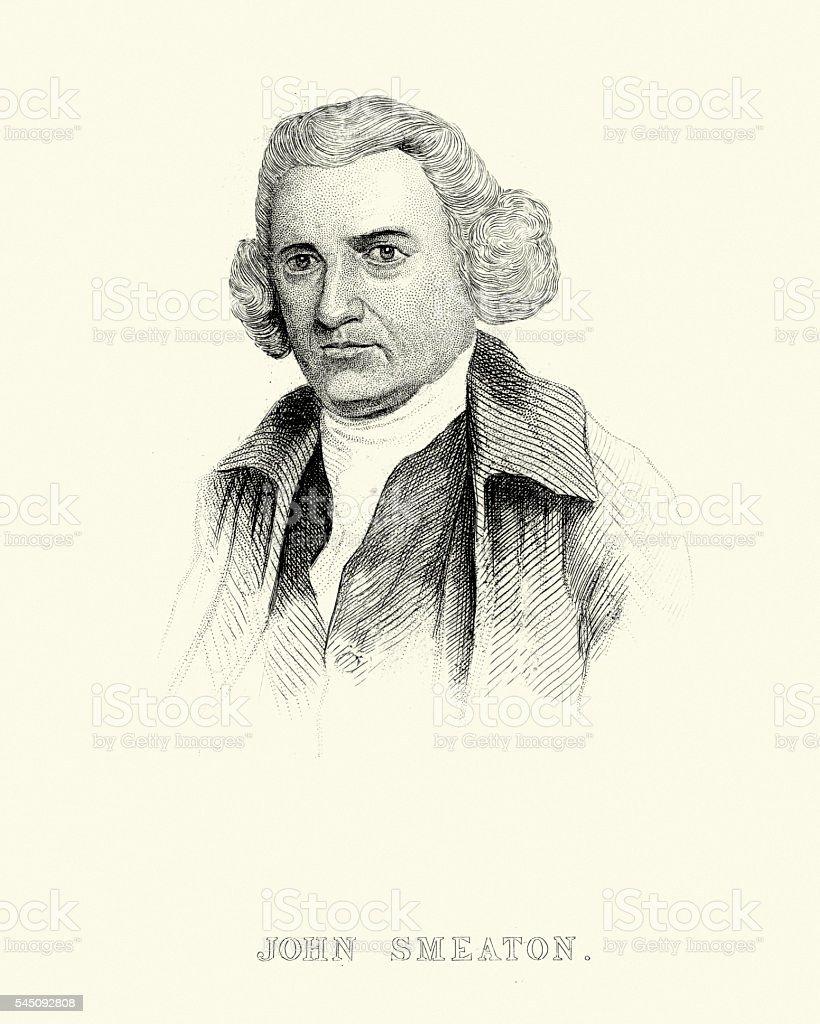 Portrait of John Smeaton vector art illustration