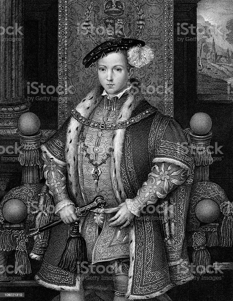 Portrait of King Edward VI as a Boy vector art illustration