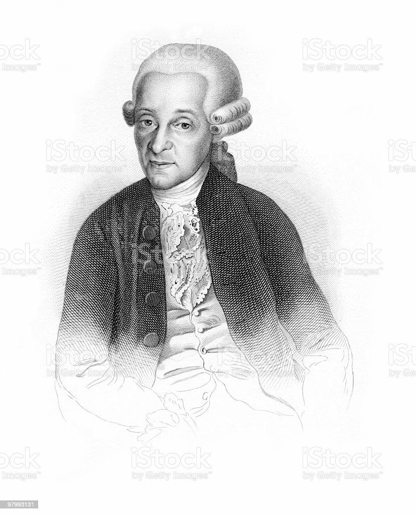 Portrait of Leopold Mozart royalty-free stock vector art