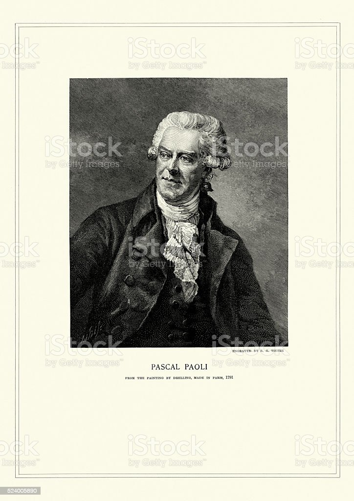 Portrait of Pasquale Paoli vector art illustration
