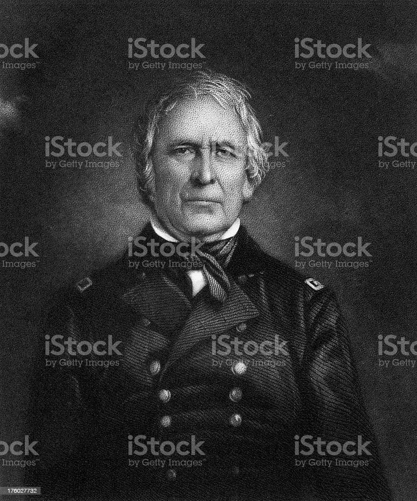 Portrait of President Zachary Taylor vector art illustration