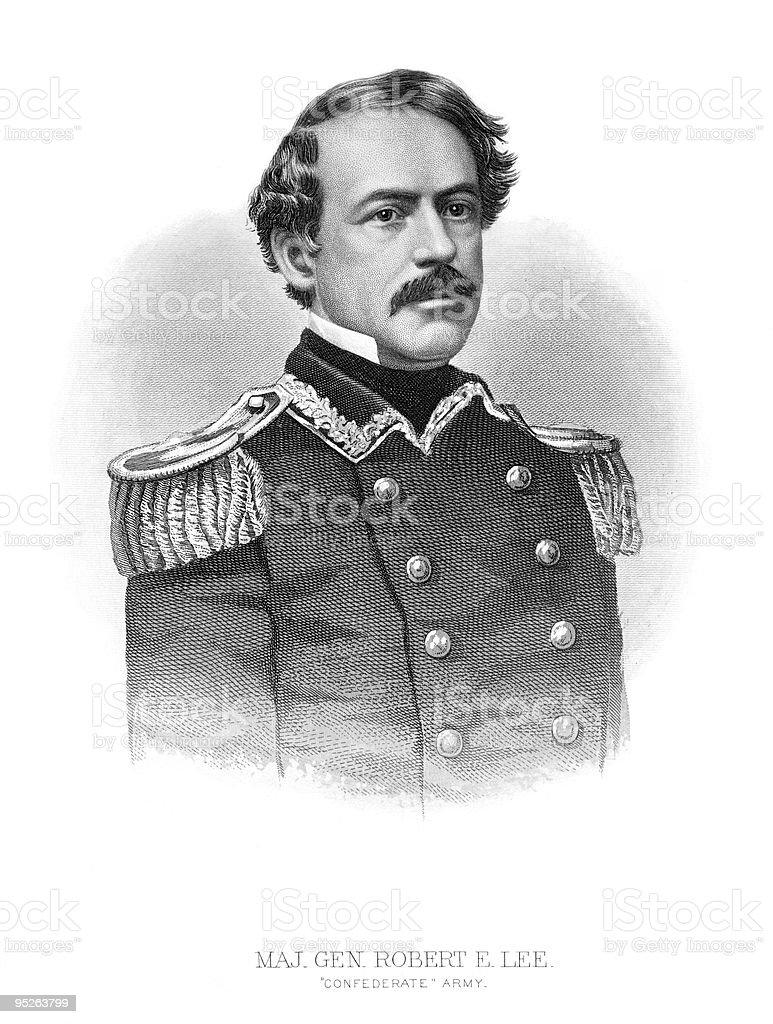 Portrait of Robert E. Lee royalty-free stock vector art