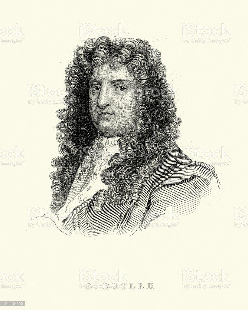 Portrait of Samuel Butler vector art illustration