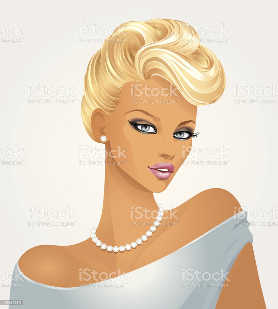 Portrait of the lady royalty-free stock vector art