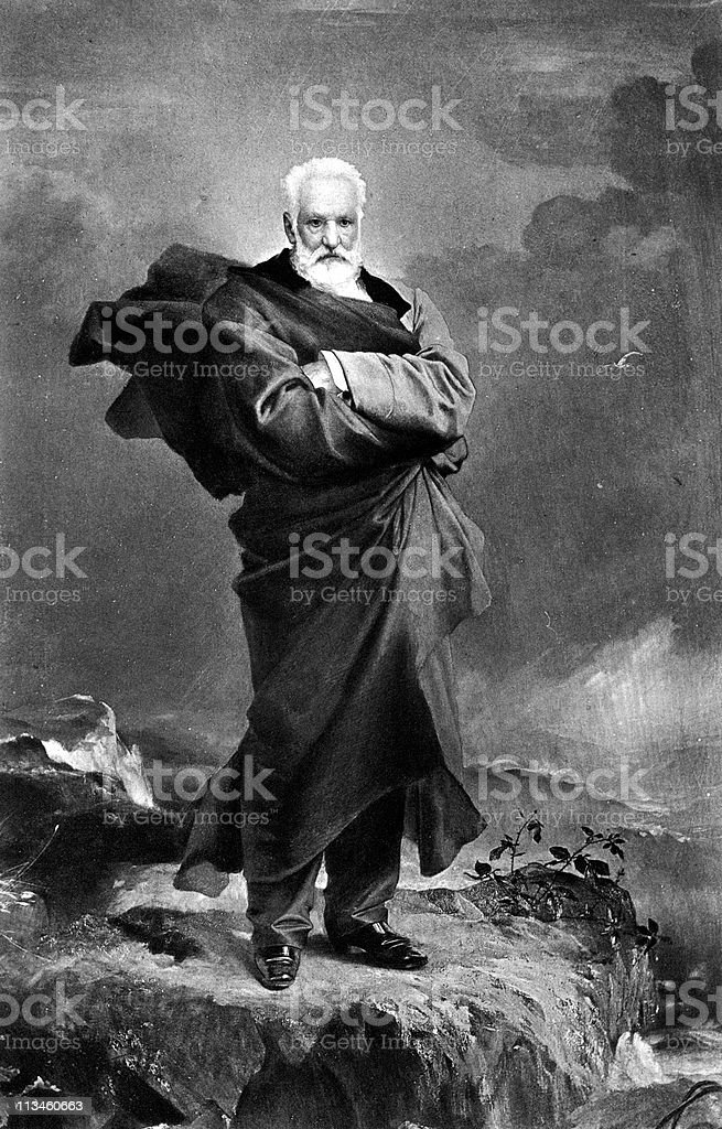 Portrait of Victor Hugo royalty-free stock vector art