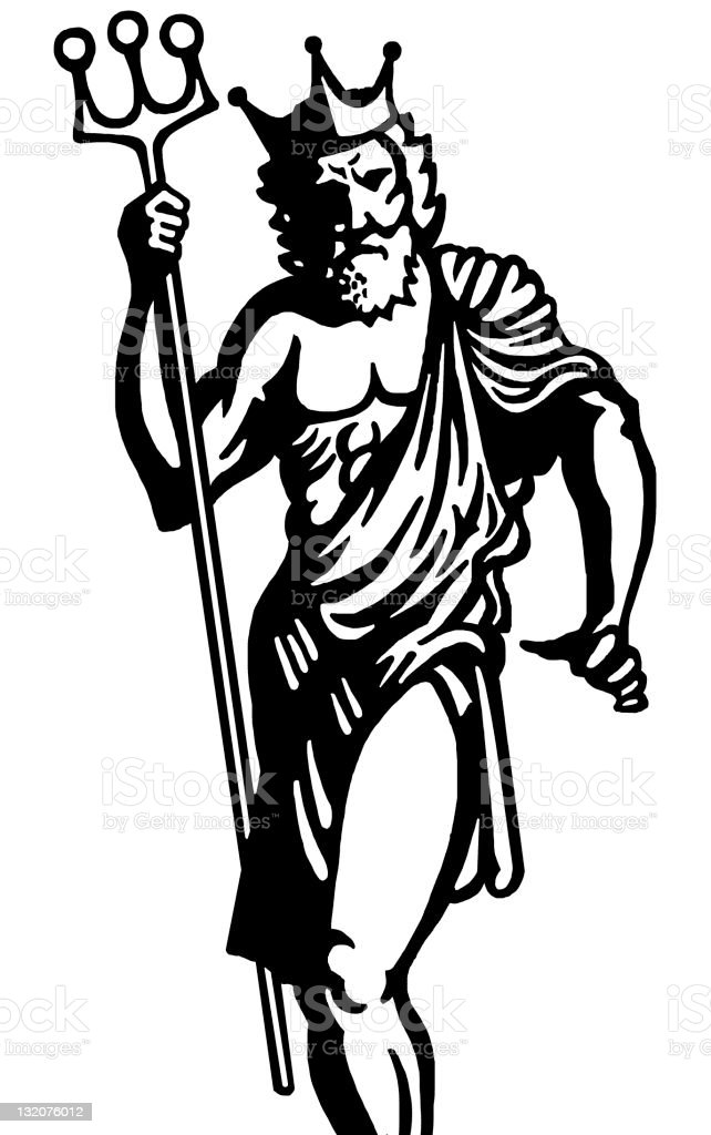 Poseidon/Neptune royalty-free stock vector art