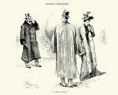 Posh victorian man and woman, 1892