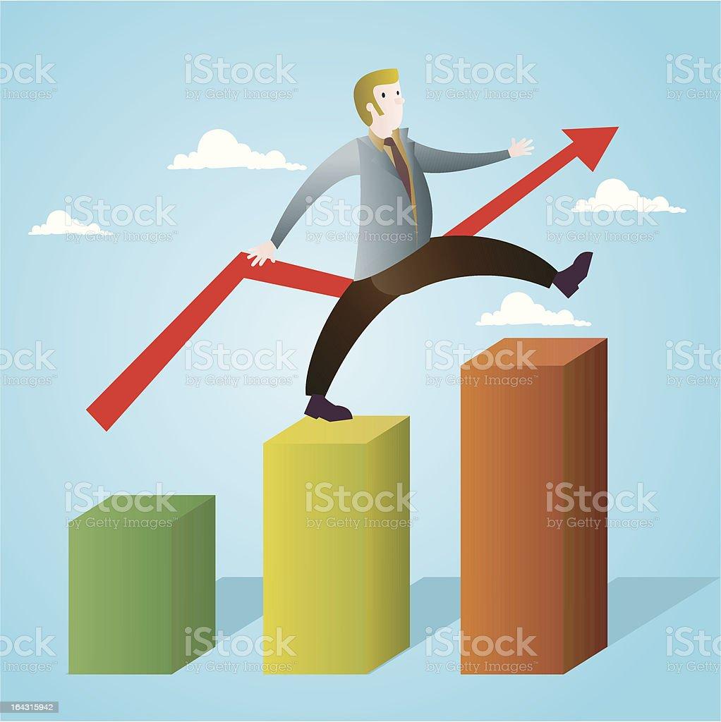 Positive balance royalty-free stock vector art