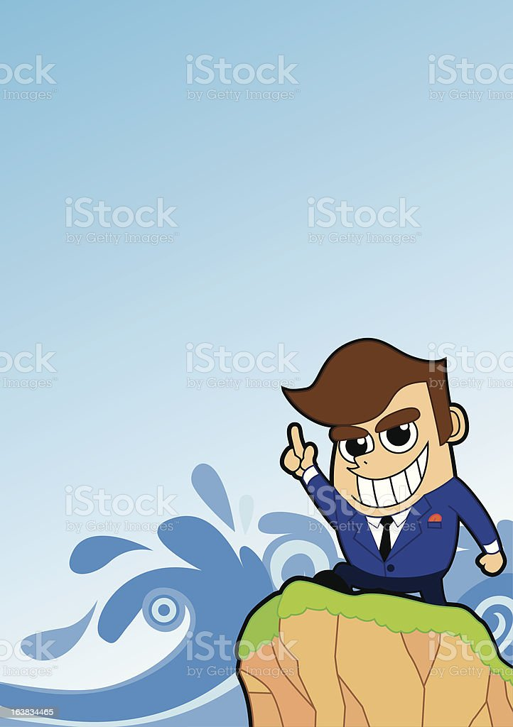Positive Men vector art illustration