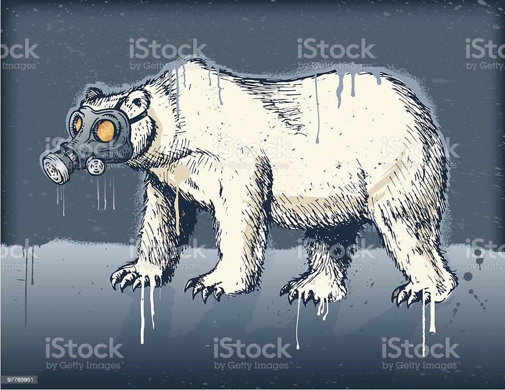 Post Apolarlyptic Bear royalty-free stock vector art