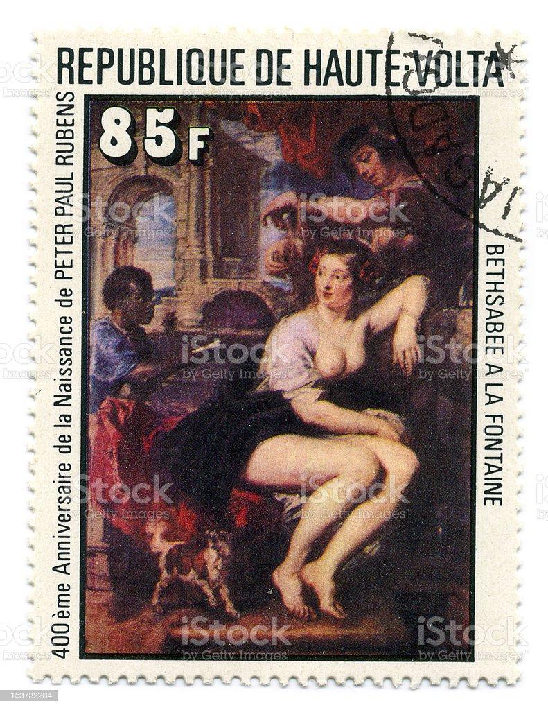 Postage stamp. vector art illustration