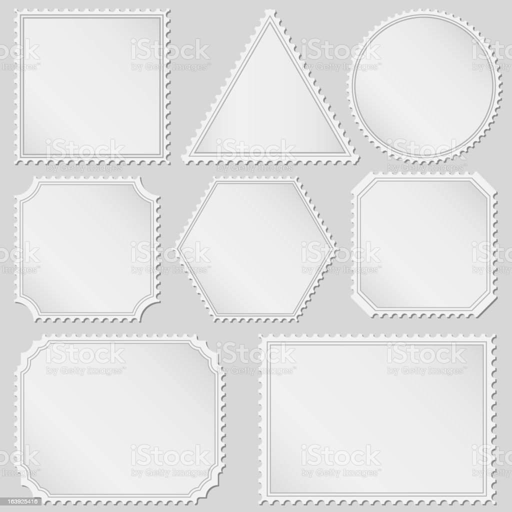 Postage Stamps royalty-free stock vector art