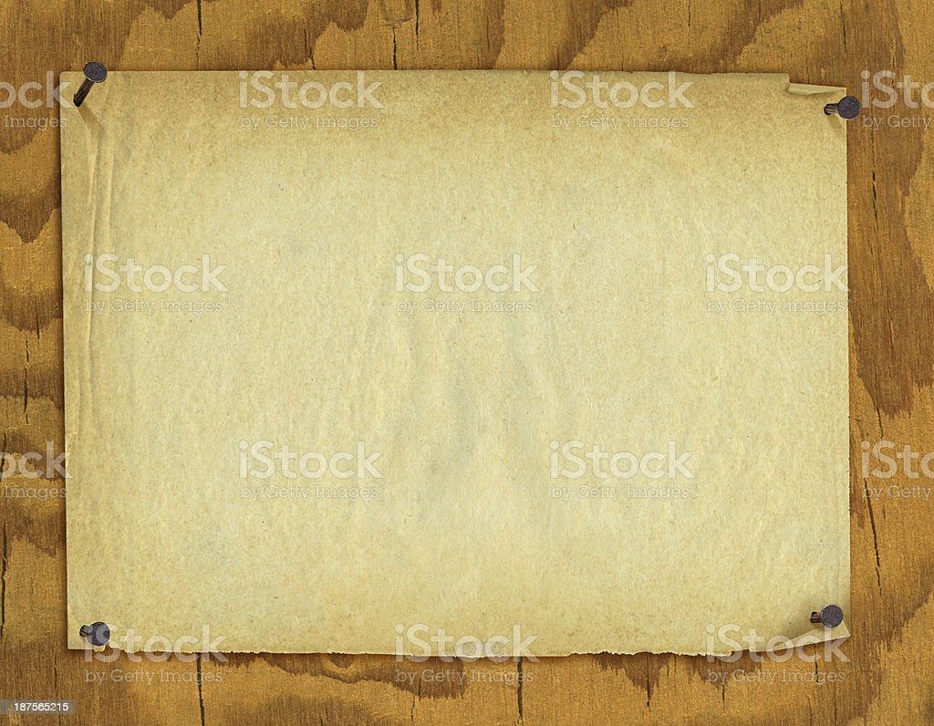 Poster Background on Wood vector art illustration
