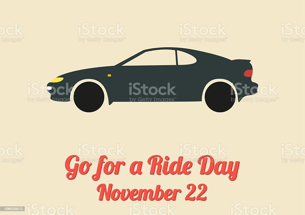 Poster for Go for a Ride Day (November 22) vector art illustration