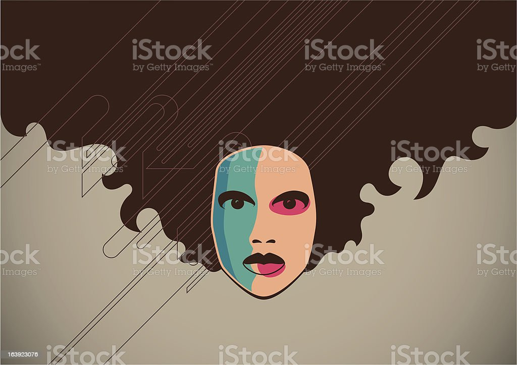 Poster with a girl portrait. royalty-free stock vector art