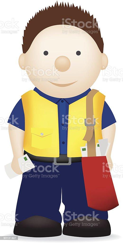 postman oder Lieferung Mann Lizenzfreies vektor illustration