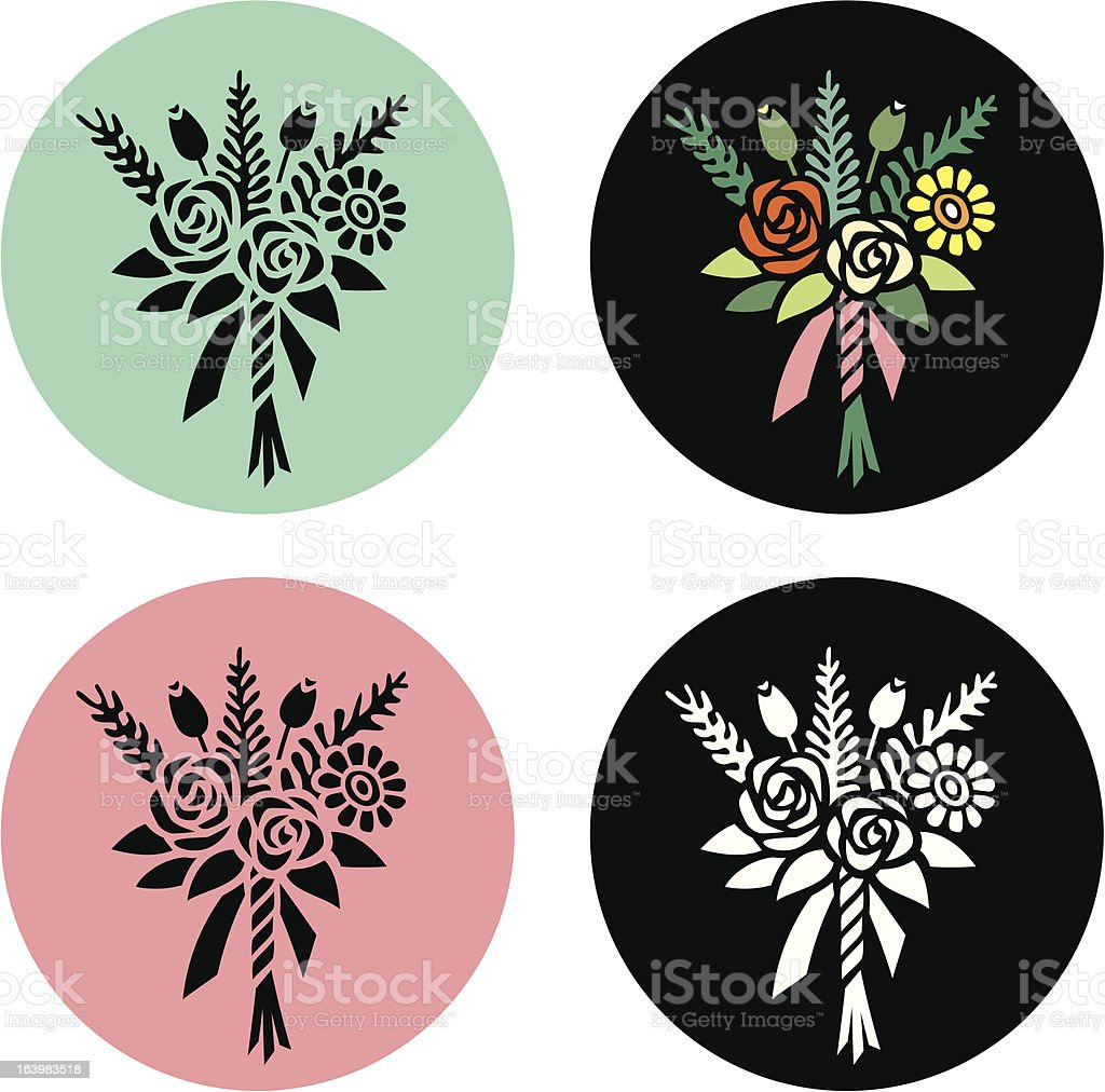 Posy of Flowers vector art illustration
