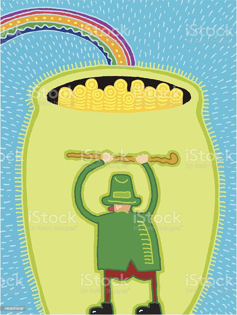 Pot o' Gold vector art illustration