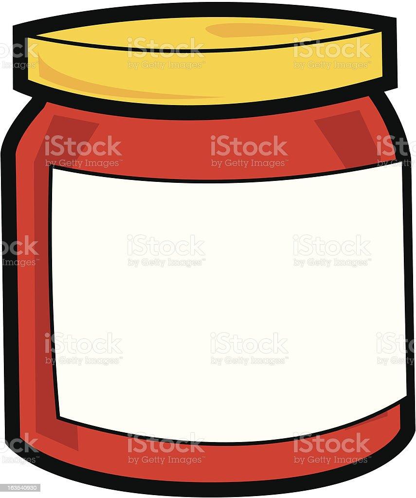 Pot of Jam royalty-free stock vector art