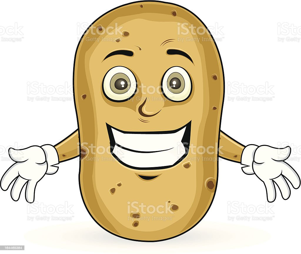Potato - Cheerful royalty-free stock vector art