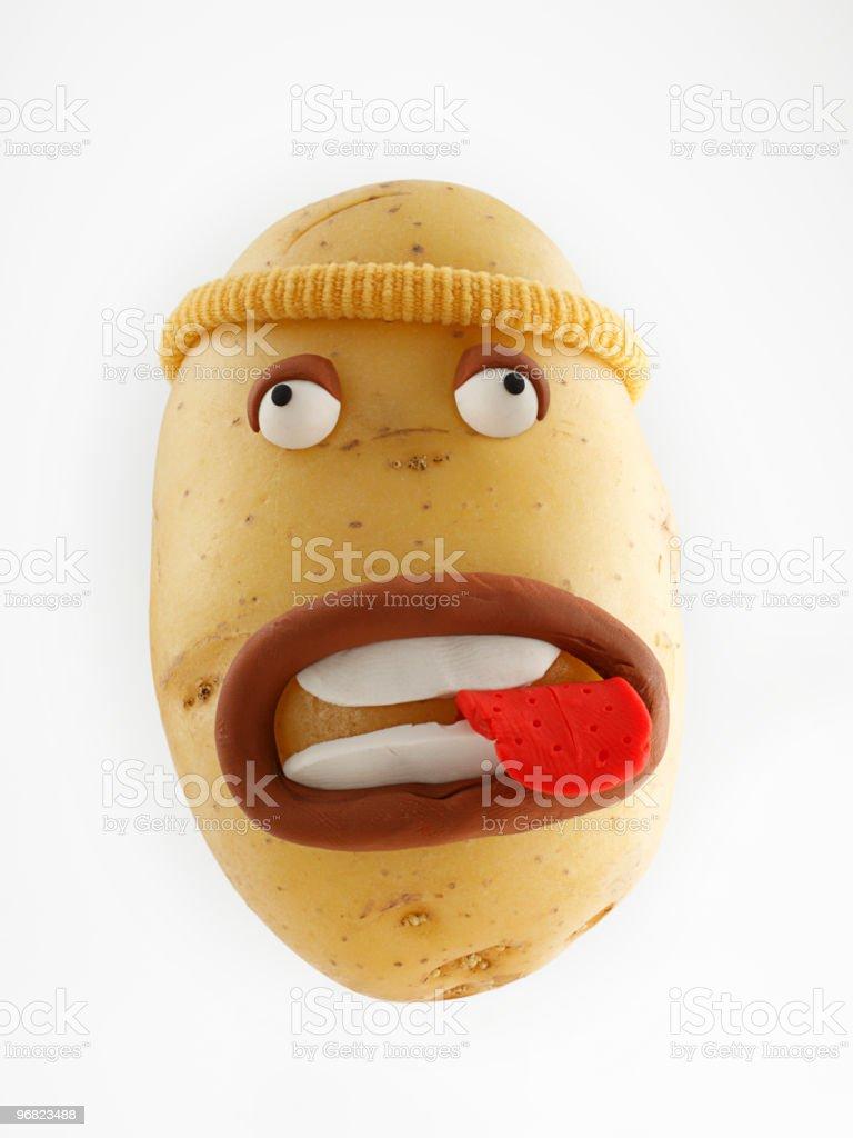 Potato Portrait vector art illustration