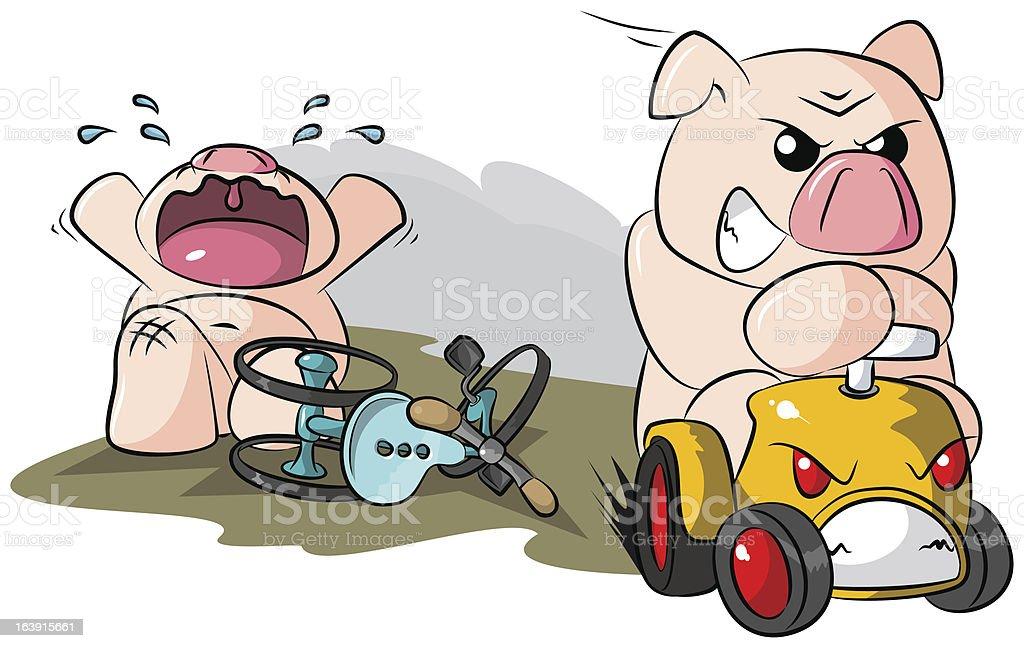 Potbelly Piggies Road Hog royalty-free stock vector art
