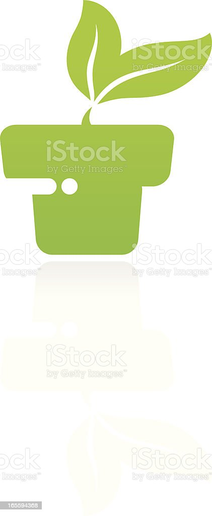 Potted plant royalty-free stock vector art