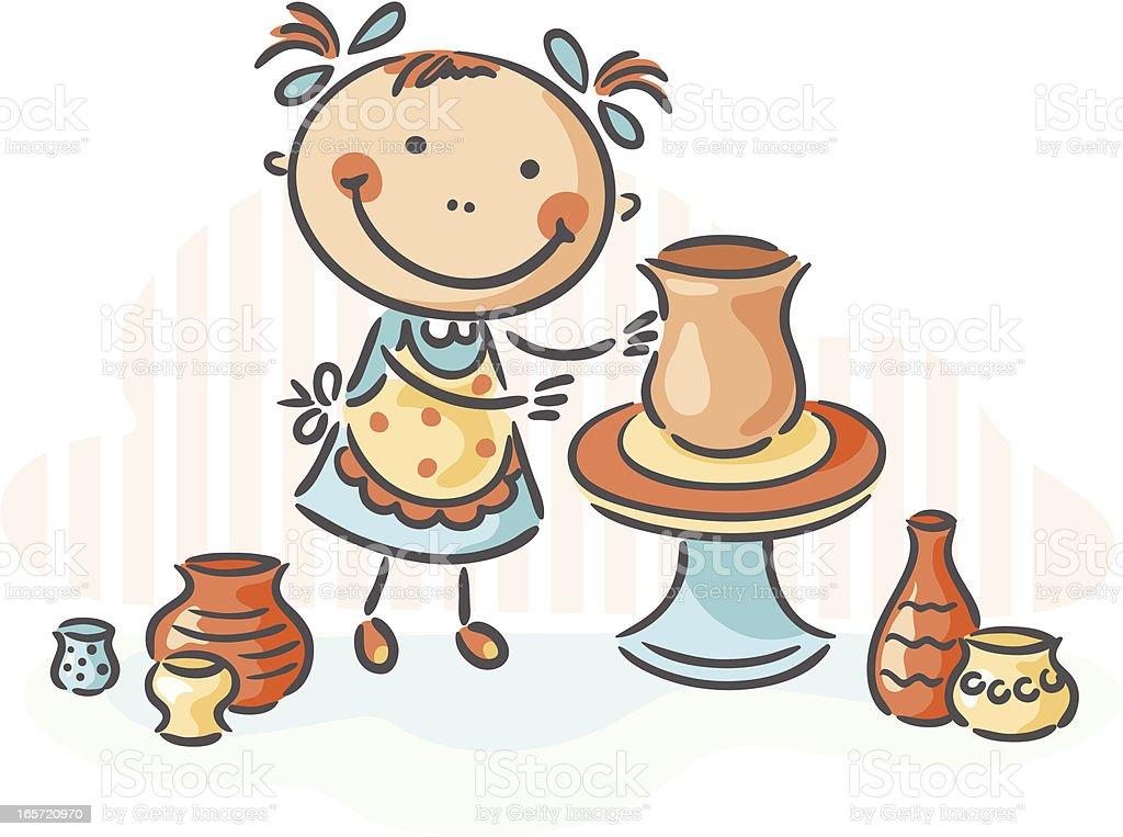 Pottery vector art illustration