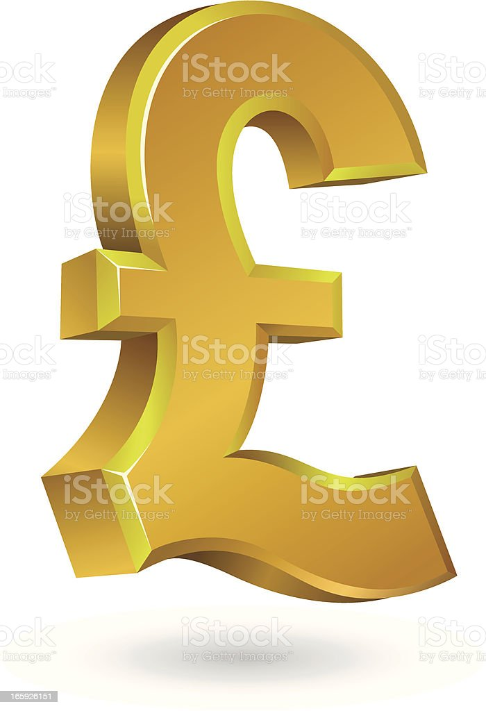pound sign royalty-free stock vector art