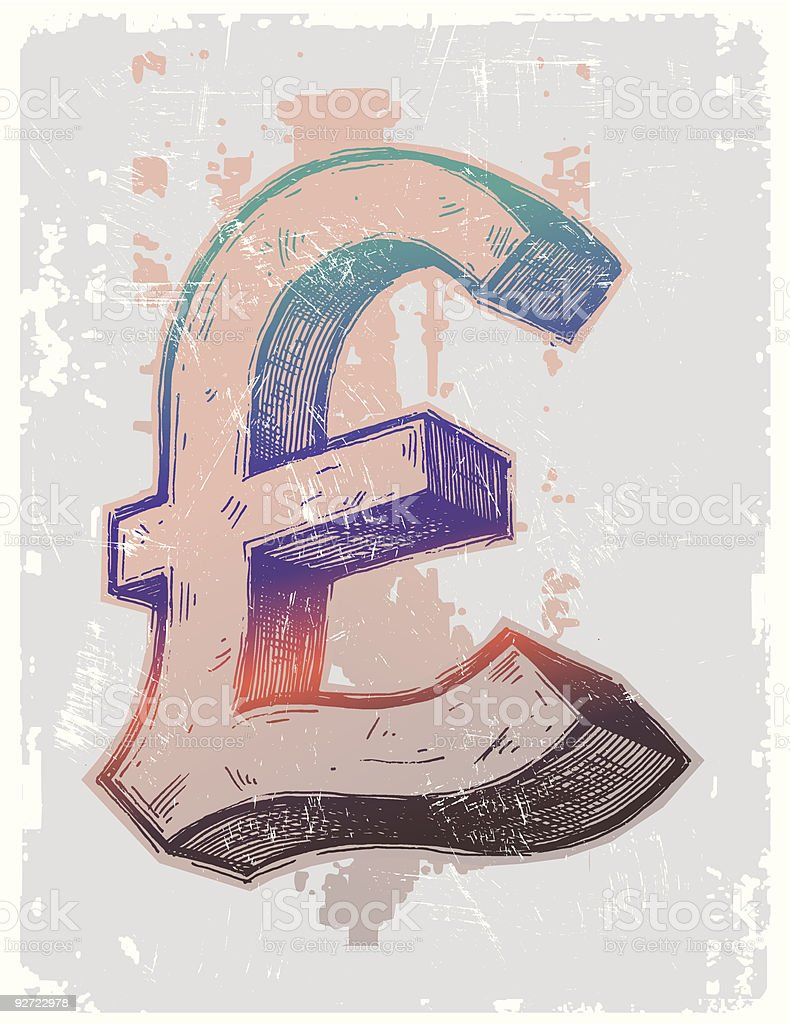 Pound sterling sign royalty-free stock vector art