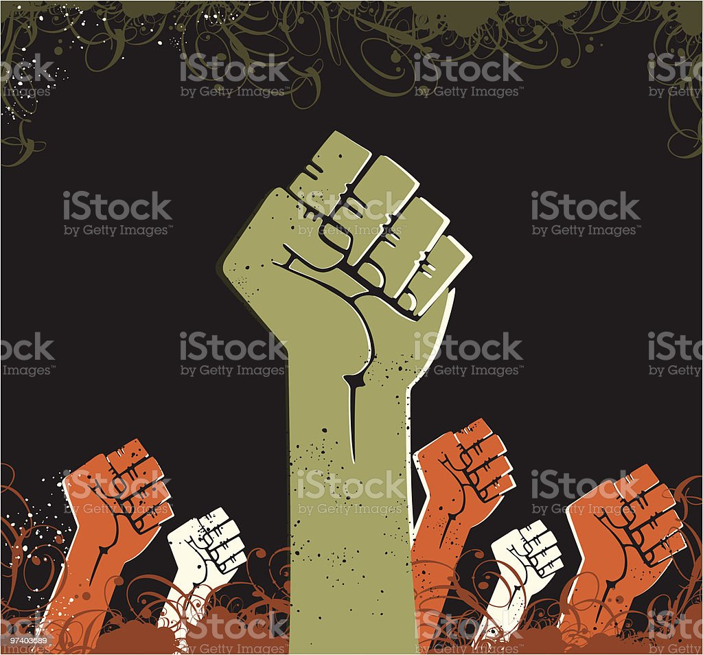 Power Fist vector art illustration