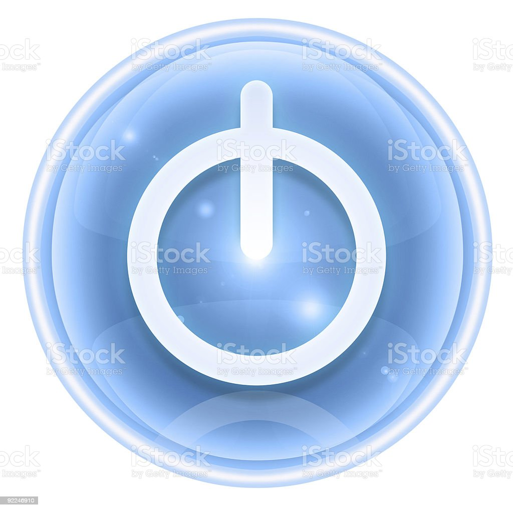 power icon ice, isolated on white background royalty-free stock vector art