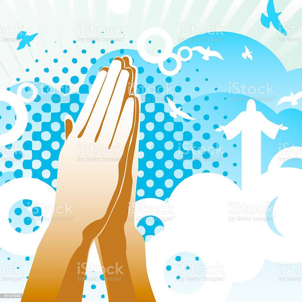 Power of Prayer royalty-free stock vector art